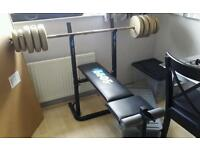Weight bench with weights