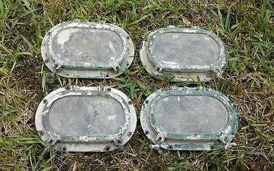 'WILCOX OVAL 5X9' Matched Set of 4 Wilcox Crittenden Brass Oval Ship Porthole(s)