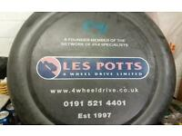 Landrover spare wheel cover used