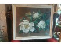 "Vintage retro framed tretchikoff "" magnolia"""