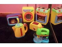 Pretend and play oven, washing machine,microwave,toaster kettle and food mixer