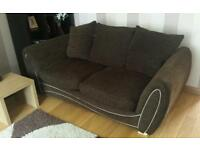 Set of DFS Serina fabric 3 seater Sofa Bed and 4 Seater Sofa.
