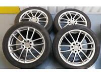 """BSA 17"""" 4x100 4x108 alloy wheels + tyres Vauxhall Ford Renualt Honda mini VW"""
