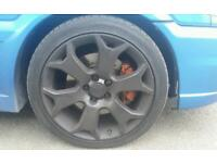 "Vauxhall astra zafira vectra 18"" vxr black alloy wheels with 4 mint tyres"