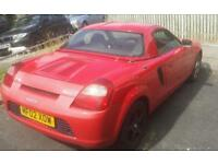 Toyota mr2 hard top in red of 2002