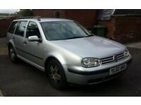 VW Golf Estate 1.9 tdi 110bhp 2002 Full VW service history mot til July 2017 143k miles