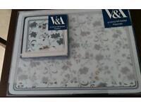 V&A placemats & coaster set
