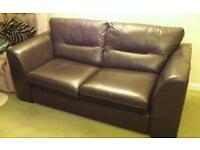 DFS leather sofabed