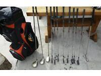 Powakaddy golf bag ladies club set