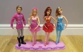 3x barbie and ken ballerinas