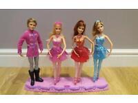 3x barbie and ken ballerinas