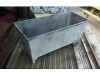 Wrought iron troughs and pots