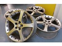 Genuine Borbet/Jaguar 18x7.5J alloy wheels 5x108 Ford Volvo Saab GM rare