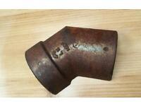 Cast iron gutter bend joint
