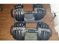 Bowflex adjustable dumbbells gym fitness