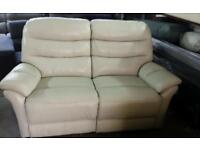 Ex display real leather electric recling 2 seater sofa only £179