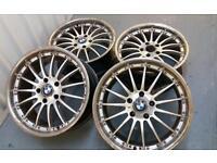 "BMW Style 18"" 5x120 alloy wheels VW transporter Vivaro insignia bargain !!"