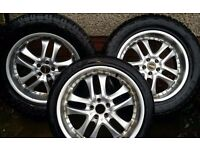 Alloy wheels and 255 55 18 4x4 tyres 5 x100 pcd 225 40 18