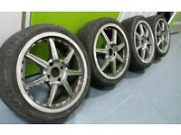 "Split rim style 17"" alloy 4x108 alloy wheels + 4 tyres Ford Peugeot Citreon! Bargain!"