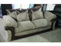 Rrp£649 new jumbo cord 3 seater sofa with scatter chusions only £160