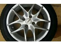 Alloy wheel and tyres clio mk2 4 stud