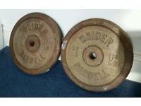 Weider 11kg barbell weights plates disc