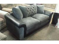 New jumbo cord 3 seater sofa in grey only £165