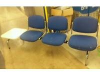 3 seater reception chair with table