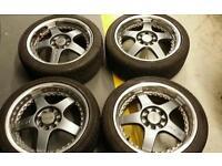 "16"" lenso rs5 4x100 4x108 alloy wheels"