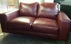 New ex display real leather 2 seater sofa good savings £159