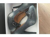 Size 5 BNIB Denim heels