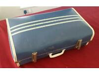 Cheney vintage suitcase travel trunk 1960's retro