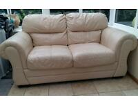 Two seater leather sofa
