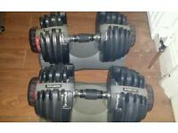 Bowflex dumbbells weights adjustable