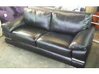 Rrp£899 new 3 seater leather sofa only £235