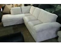 New large jumbo cord chases sofa in white only £275