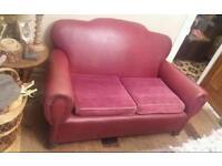 Rare Edwardian Leather Sofa