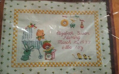 Creative Circle Nursery Time Baby 12x16 NEW Infant Bear Bunny Ducks Sew Stitch  ()