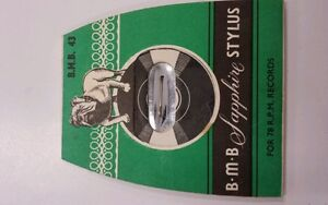 VINTAGE-B-M-B-43-RECORD-PLAYER-STYLUS-NIB-PHILIPS-A-G-3301-CARTRIDGE-SAPPHIRE
