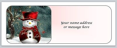 30 Personalized Christmas Return Address Labels Buy 3 Get 1 Free Bo 672