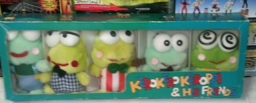 Vintage 1992 Sanrio Original Keroppi and Friends 5 Piece Plush Box Set
