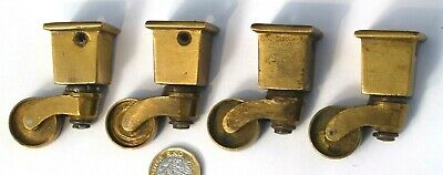 SET X 4 REPRODUCTION ANTIQUE STYLED SQUARE SOCKET CASTORS ref79