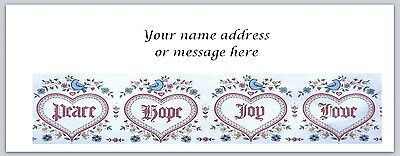 30 Personalized Address Labels Primitive Country Hearts Buy3 Get1 Free Bo 275