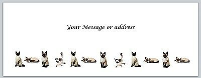 Personalized Address Labels Row Of Siamese Cats Buy 3 Get 1 Free Bo 252