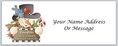 Personalized Address Labels Primitive Country Snowman Buy 3 Get 1 Free Xco 327