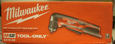 Milwaukee Right Angle Drill 2415 20 M12 12 Volt Lithium Ion 3 8 In  Cordless