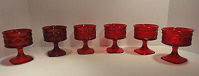Noritake Spotlight Ruby Red Sherbet / Champagne Glasses Set of Six