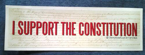 I SUPPORT THE CONSTITUTION Pro-Trump Bumper Sticker L