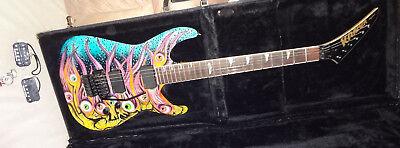 KRAMER BARETTA II EYEBALL GRAPHIC AMERICAN Electric Guitar Floyd Rose & EMG'