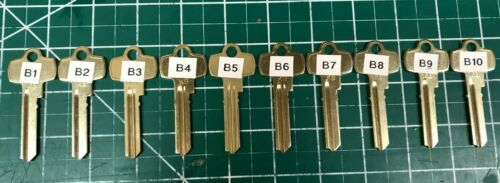 Best Kaba Peaks KB-B1 - KB-B10 Key Blanks Locksmith B1 B B3 B4 B5 B6 B7 B8 B9
